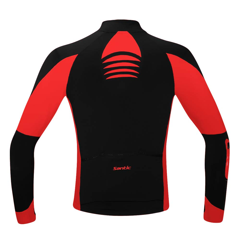 7cc11b0ac Amazon.com   Santic Mens Cycling Jackets Winter Inner Fleece Windproof Long  Sleeve Thermal Bicycle Jacket Breathable Reflective Coat   Sports   Outdoors
