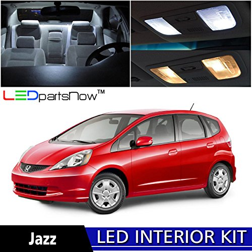 LEDpartsNow 2009-2013 Honda Fit Jazz LED Interior Lights Accessories Replacement Package Kit (6 Pieces), WHITE