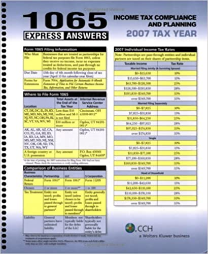 1065 Express Answers Income Tax Compliance and Planning 2007 Tax Year
