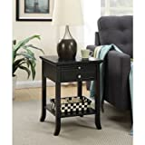 Convenience Concepts American Heritage Logan End Table with Drawer and Slide