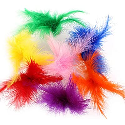 5 Pieces Kick Shuttlecock Colorful Feather Chinese Jianzi Kicking Shuttlecock Foot Exercise Outdoor Toy Game Decompression Movement: Sports & Outdoors
