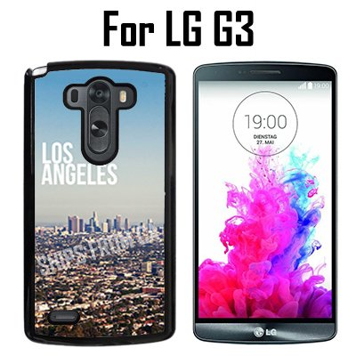 Los Angeles City Custom Case/ Cover/Skin *NEW* Case for LG G3 - Black - Plastic Case (Ships from CA) Custom Protective Case , Design Case-ATT Verizon T-mobile Sprint ,Friendly Packaging - Los T Angeles Ca Mobile