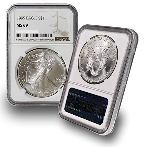 - 1995 American Silver Eagle $1 MS69 NGC
