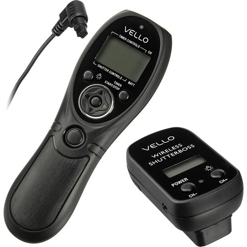 Vello Wireless ShutterBoss Timer Remote-Canon 3-Pin Connection RCWC2