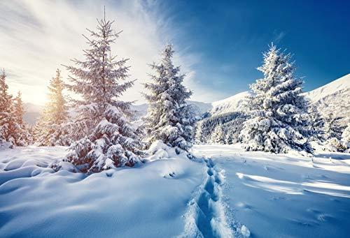 Yeele 5x3フィート 冬 雪 山 写真 背景 白雪 松 木 森 アルプ 背景 メリークリスマス ハッピーニューイヤー パーティー バナー デコレーション スタジオ小道具   B07G6NGX9V