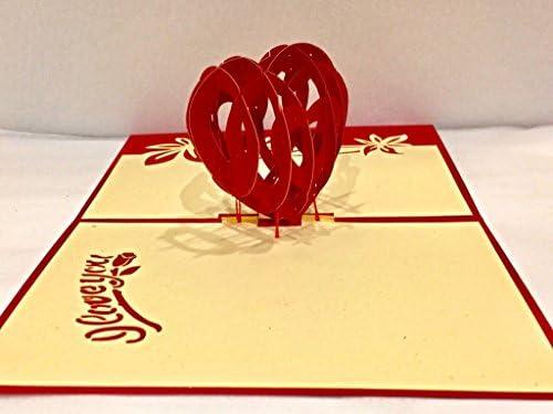 Seven Regalos Laser Cut Out 3d rojo corazón corazones amor San ...