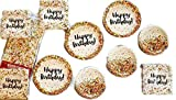 Sprinkles Birthday Party Bundle 9'' Plates (24) 7'' Plates (24) Cups (24) Napkins (64) Tablecover (1) Party Bundle