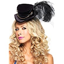Leg Avenue Steampunk Top Hat With Chain And Feather Accent