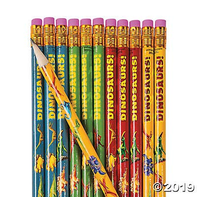 DINOSAUR PENCILS - Stationery - 24 Pieces: Toys & Games