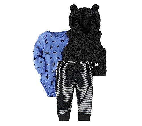 Carter's Baby Boys' 3 Piece Wilderness Print Vest Little Jacket Set 24 Months