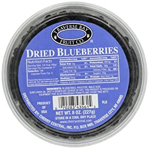 Traverse Bay Fruit Dried Blueberries, 8 Ounce (Pack of 3)