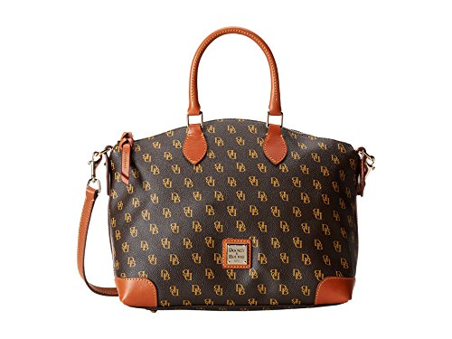 - Dooney & Bourke Gretta Signature Satchel Brown Tmoro