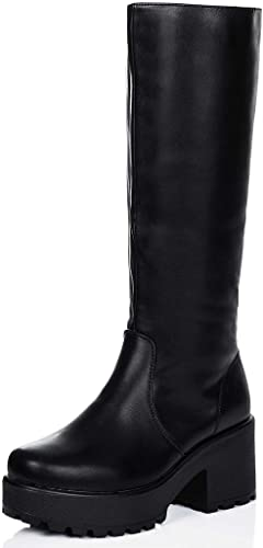 ROCKFORD Black Knee High Tall Boots at