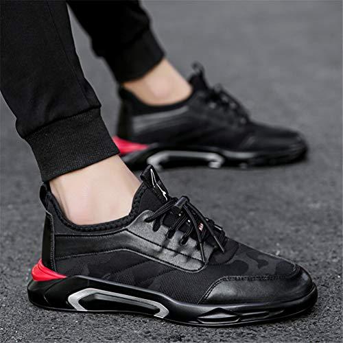 Calzado Running Hombres Encaje Casual Casuales Entrenadores Negro Outdoor Zapatos Senderismo Ligero Transpirable Moda Lona Zapatillas qTqSPw0x
