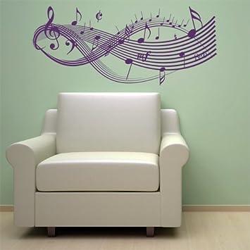 CLEF MUSIC NOTES VINYL WALL STICKER DECAL ART BEDROOM WARDROBE DECORATION