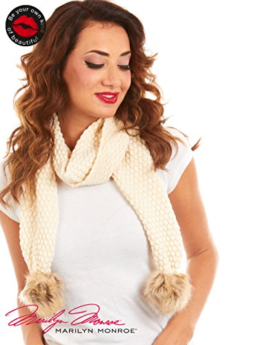 Marilyn Monroe Bubble Knit Oblong Scarf With Faux