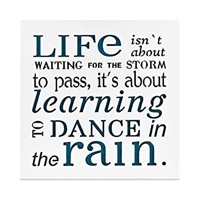 KAUZA Dance in The Rain - Home Decor Signs, Decorative Signs, Inspirational Plaques,Wooden Signs with Sayings Inspirational Gifts
