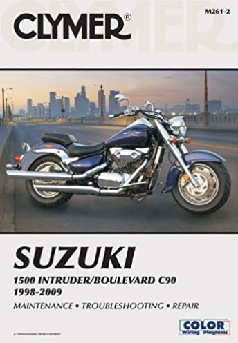 51O9f1neHAL._SX344_BO1204203200_ suzuki 1500 intruder boulevard c90 1998 2009 (clymer color wiring 1998 suzuki intruder 1500 wiring diagram at panicattacktreatment.co