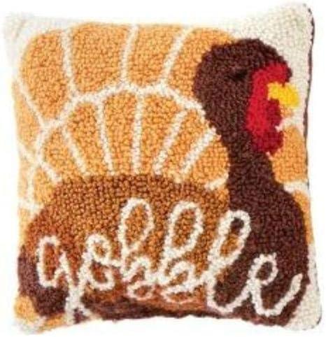 Mud Pie Thanksgiving Turkey Mini Hook Pillow 8 x 8