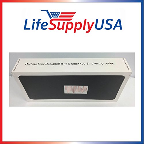 1 Air Purifier replacement Filter fits ALL Blueair SmokeStop 400 Models 401, 410B, 403, 450E,400PF, 401PF ; By LifeSupplyUSA