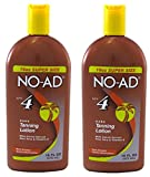 NO-AD Dark Tanning Lotion, SPF 4, 16 Oz (Pack of 2)