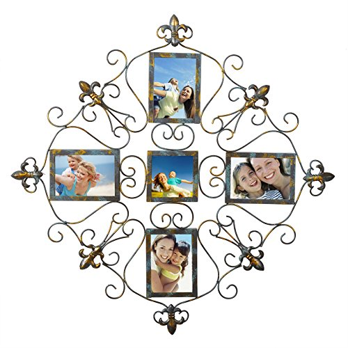 WOLTU Vintage Style Metal Collage Picture Frame Decorative Wall Hanging Photo Frame,5 Openings,4x6