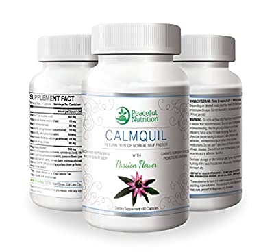Calmquil Anxiety Relief - Natural Anxiety Relief Supplement for Anxiety, Stress and Panic - 60 Capsules - Best Anxiety Pills - Herbal Anti-anxiety Supplements with Passion Flower