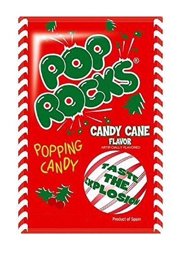 Candy Cane Flavored Pop Rocks - 12ct