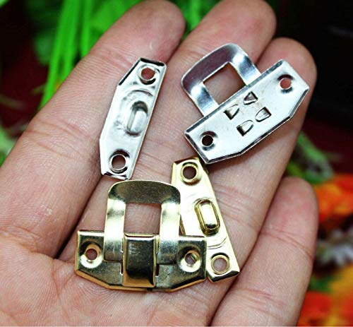 BIG-DEAL_2419mm Metal Box hasp Small Buckle Wooden Gift Box Buckle Lock Small Square Buckle Hasp White Yellow Wholesale
