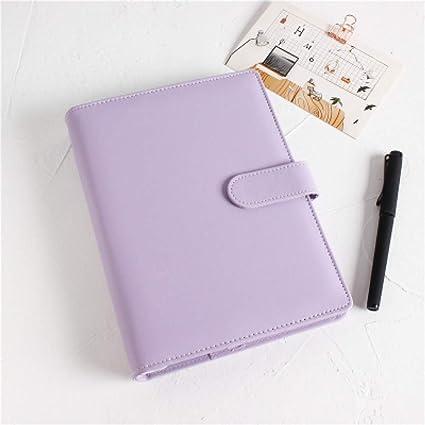 BJBCH Macarons Pu Funda Para Cuaderno A5 A6 Organizador De ...