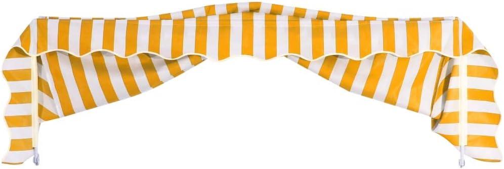 vidaXL Bistro Awning 200x120cm Orange and White Patio Canopy Sun Shade Shelter