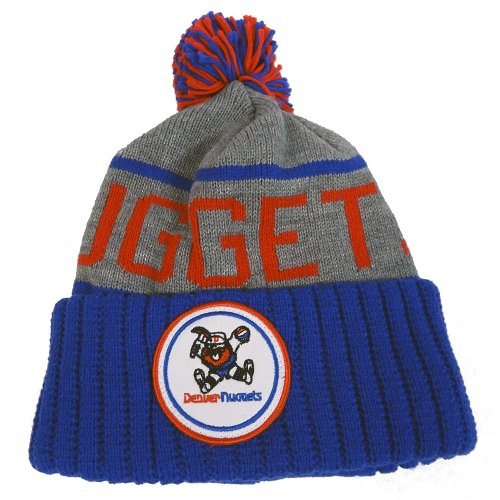 Denver Nuggets Mitchell & Ness NBA ''The High 5'' Vintage Cuffed Knit Hat w/ Pom by Mitchell & Ness