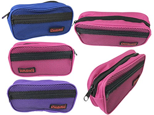 Cosmetic Bag With Mesh Insert Size: 8.25'' x 4.25'' x 2'' , Case of 144