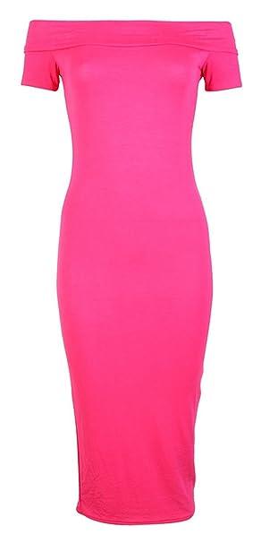 de73f889d18 mix lot Dame-Sexy Bardot Midi Schulterfrei Knielanges Kleid Größe 36-38 40-