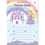 Princess Birthday Invitations with Envelopes (15 Count) - Kids Birthday Party Invitations for Girls