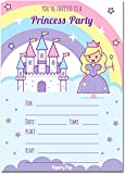 30 Princess Birthday Invitations with Envelopes (30 Pack) - Kids Birthday Party Invitations for Girls