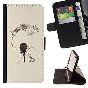 Momo Phone Case / Flip Funda de Cuero Case Cover - Primavera Realidad Profundo Significado Boring - Samsung Galaxy S5 Mini, SM-G800