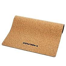 HEAD Cork material Yoga Mat 5mm / Exercise mat for yoga, rehabilitation, professionals, athletes, pilates