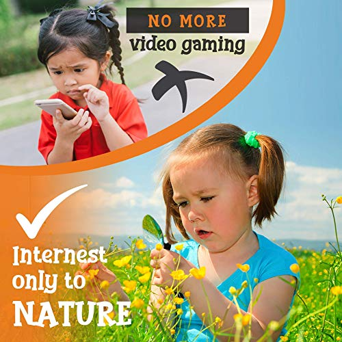 Adventure Kids – Outdoor Explorer Kit, Children Binoculars, Flashlight, Compass, Magnifying Glass, Butterfly Net…