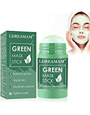 Green Tea Purifying Clay,Green Tea Solid Mask,Green Mask Stick,Deep Clean Pore,Blackhead Remover,Moisturizing & Hydrating,Oil Control,for All Skin Types Men Women