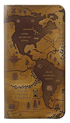 Leather Map Antique - RW2861 Antique World Map PU Leather Flip Case Cover for Note 9 Samsung Galaxy Note9