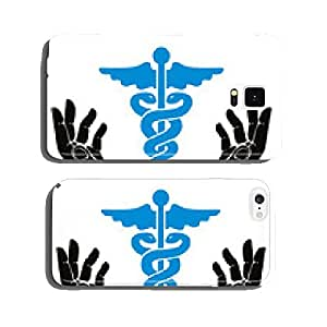 Hands with caduceus vector symbol. cell phone cover case iPhone5