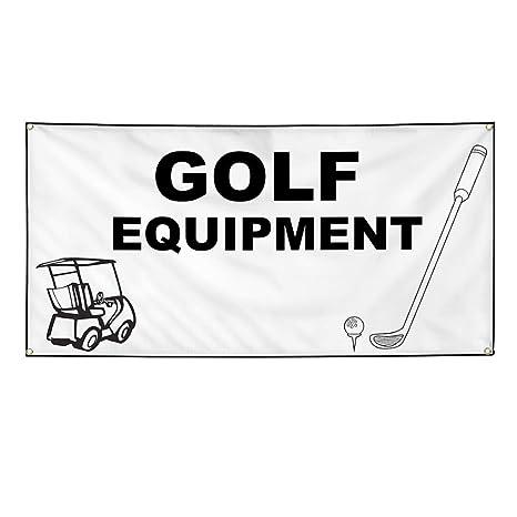 Amazon com : Vinyl Banner Sign Golf Equipment White Black