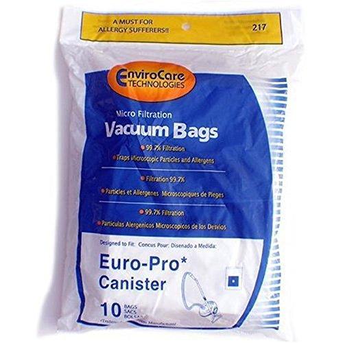 Euro-Pro Shark X10-3005 Micron Vacuum Cleaner Bags / 10 pack - Genuine w/Dust Seal + 2 Motor Filters ( 43-6372)