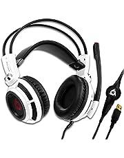 KLIM™ Puma - Micro Casque Gamer - Son 7.1 - Audio Très Haute Qualité - Vibrations Intégrées - Confortable - Parfait pour Gaming PC et PS4 - Nouvelle Version 2020 - Blanc