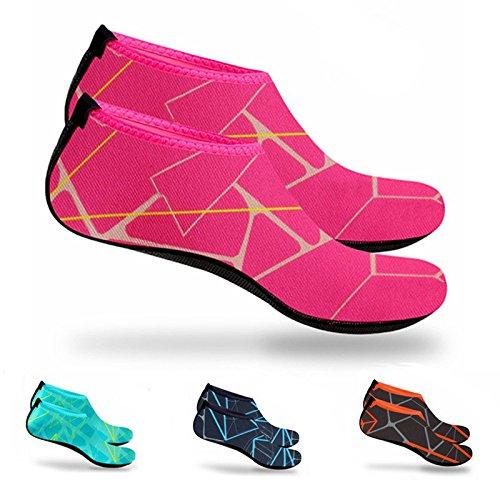 Contre Plonge Chaussettes Impermables Plonge Rouge Tuba La Protgent Pour Motif Extra Easy Chaussures Le Avec Sable Comfort Fit Qui Natation X44rgx6