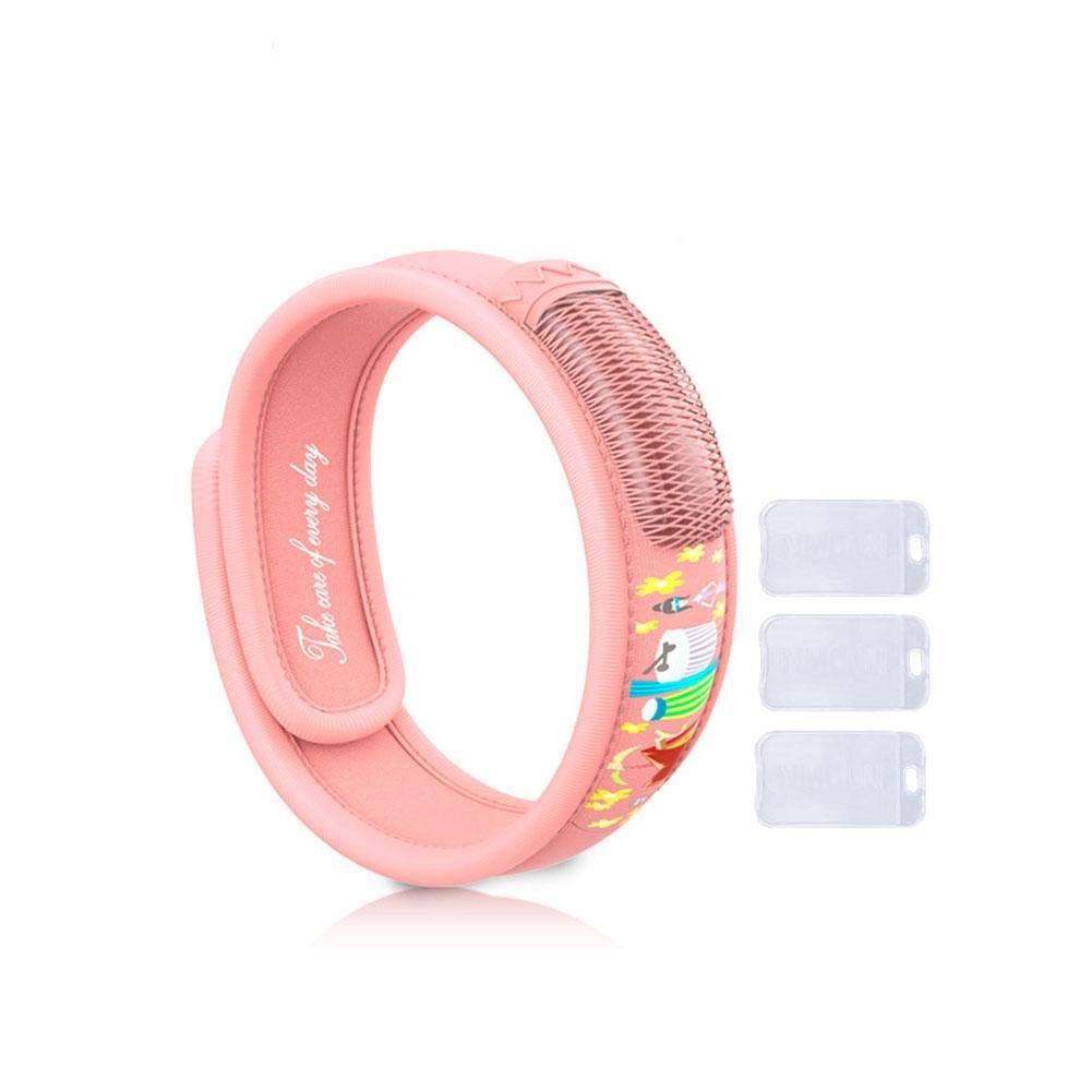Vosarea 4 ST/ÜCKE M/ückenschutz Armband Nat/ürlichen /Öl Wasserdichte Nicht Giftig f/ür Kinder Erwachsene Rot