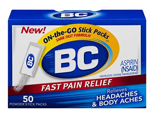 BC Powder | Fast Pain Relief | Aspirin (NSAID) & Caffeine | 50 Count
