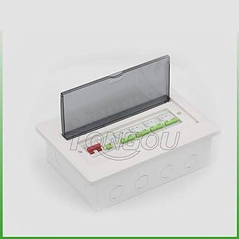 Caja de distribución de metal de 12 canales unidad de usuario Interruptor automático RCD 63A Caja de interruptor de protección empotrada 2P: Amazon.es: Industria, empresas y ciencia