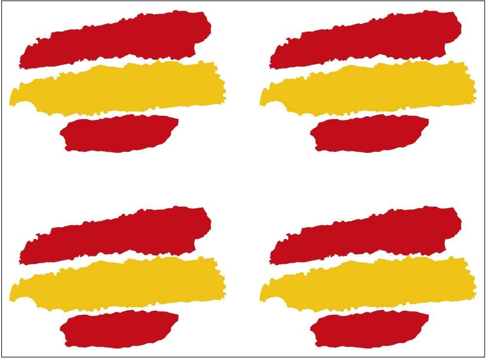 Artimagen Pegatina Bandera Trazos España 4 uds. 40x25 mm/ud.: Amazon.es: Coche y moto